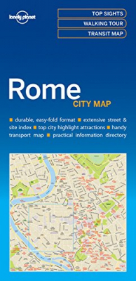 Image of Rome City Map : Lonely Planet