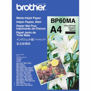 Image of Brother Photo Paper Matte A4 25sht 145gsm Bp60ma