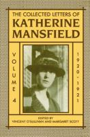 Image of Collected Letters Of Katherine Mansfield : Volume 4 : 1920-1921