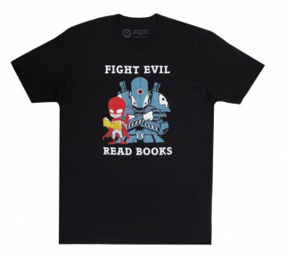 Image of Fight Evil Read Books : Unisex Large T-shirt