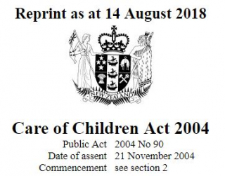 Image of Care Of Children Act 2004 : Reprint As At 14 November 2018
