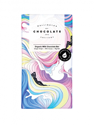 Image of Organic Milk Chocolate Bar : Wellington Chocolate Factory