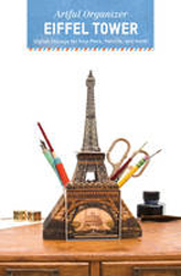Image of Artful Organizer : Eiffel Tower : Stylish Storage For Your Pens Pencils And More!