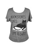 Image of Bookstore Cats : Dolman Women's Large T-shirt
