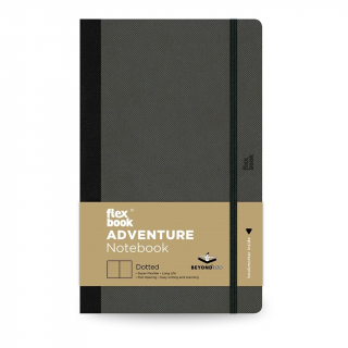 Image of Notebook Flexbook Adventure Medium Dotted Off-black
