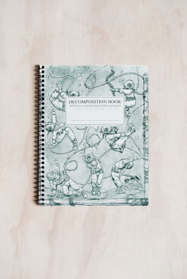Image of Decomposition Spiral Notebook Large Ruled Deep Stretch
