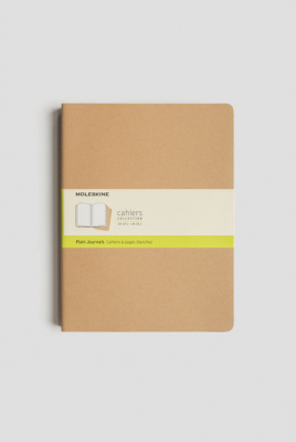Journal Moleskine Cahiers Sc Extra Large Plain Kraft Set Of 3
