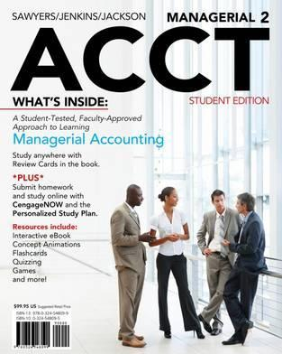 Image of Managerial Acct 2 : With Cengagenow & Ebook Access Card Student Edition Of 2nd Revised Edition
