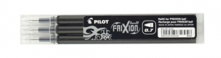 Image of Pen Refill Pilot Frixion 0.7mm 3 Pack Black