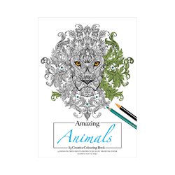 Amazing Animals A3 Colouring Pad