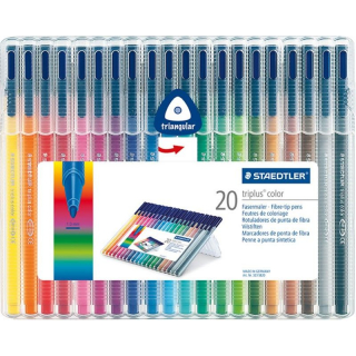 Image of Felt Tip Pens Staedtler Triplus Colour 20 Pack