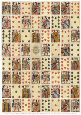 Image of English Georgian Playing Cards Wrapping Paper