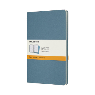 Journal Moleskine Cahiers Sc Large Ruled Brisk Blue Set Of 3