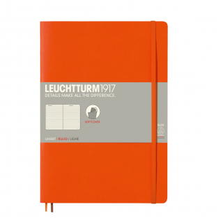 Image of Journal Leuchtturm 1917 Softcover B5 Lined Orange
