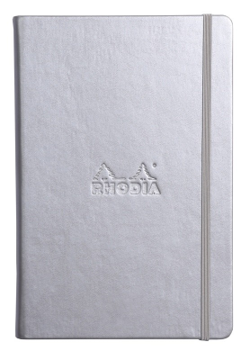 Image of Notebook Rhodia Webnotebook A5 Lined Silver