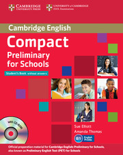 Image of Compact Preliminary For Schools : Student's Pack : Students Book / Workbook