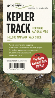 Image of Great Walks Of New Zealand Map Series : Kepler Track Fiordland National Park