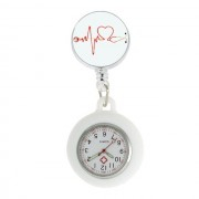 Image of Retractable Nurses FOB Watch : White Heart Beat Stethoscope
