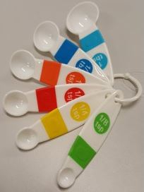 Image of Measuring Spoons Plastic 6 Piece Set