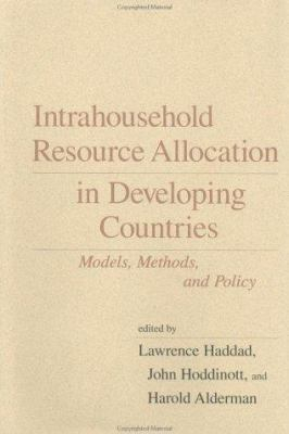 Image of Intrahousehold Resource Allocation In Developing Countries :methods, Models, And Policy