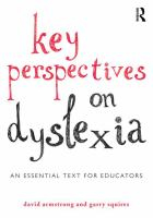 Image of Key Perspectives On Dyslexia : An Essential Text For Educators