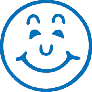 Image of Stamp Xstamper Vx 11303 Smiley Face Blue