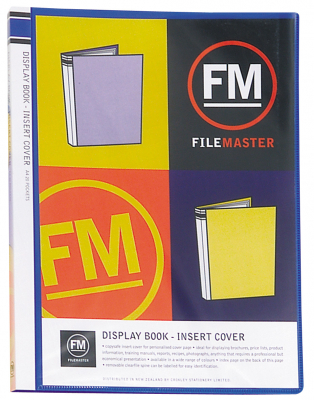 Image of Display Book Insert Cover Fm 20 Pocket Blue A4