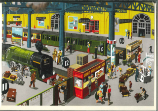 Image of Back To School Railway Station : Greeting Card