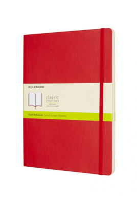 Image of Journal Moleskine Classic Sc Extra Large Plain Scarlet Red