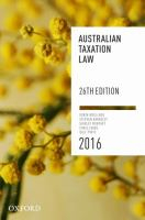 Image of Australian Taxation Law 2016