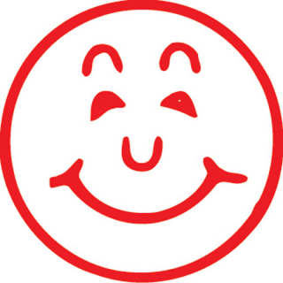 Image of Stamp Xstamper Vx 11303 Smiley Face Red