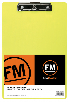 Image of Clipboard Fm Neon Yellow Transparent