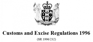 Customs And Excise Regulations 1996 Reprint As At 20 December 2015