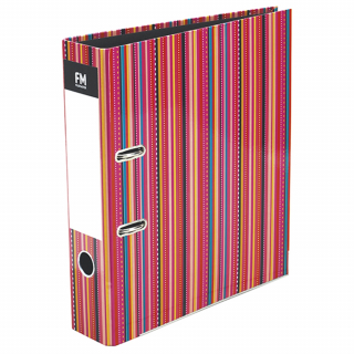 Image of Lever Arch File Fm Vivid Stripe A4 Shocking Pink