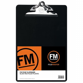 Image of Clipboard Fm 30% Recycled Foolscap Black