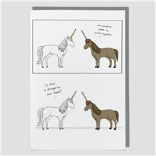 We Unicorns Need To Stick Together : Greeting Card