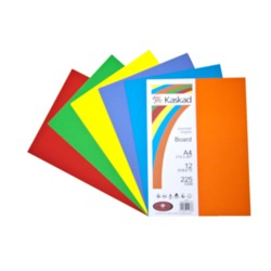 Image of Board Kaskad Assorted Brights A4 225gsm 12 Sheets