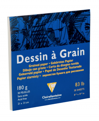 Image of Drawing Pad Dessin A Grain 21cm Square 180gsm