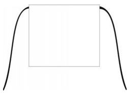 Image of Apron Waist White 720 X 600mm