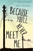 Image of Because You'll Never Meet Me