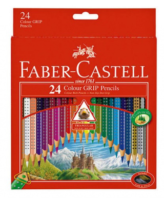 Image of Coloured Pencils Faber Castell Grip 24 Pack