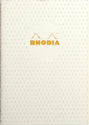 Image of Notebook Rhodia Heritage Sewn Spine A5 Moucheture Ivory