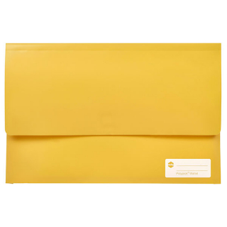 Image of Document Wallet Marbig Polypick Yellow