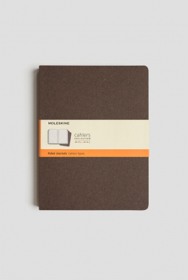 Image of Journal Moleskine Cahiers Sc Extra Large Ruled Coffee Brown Set Of 3