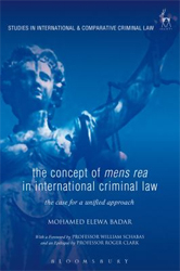 Image of Concept Of Mens Rea In International Criminal Law : The Casefor A Unified Approach