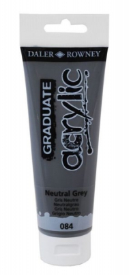 Image of Daler Rowney Graduate Acrylic 120ml Neutral Grey