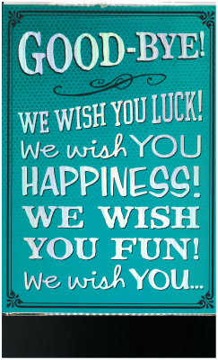 Image of Goodbye We Wish You Luck : Large Card