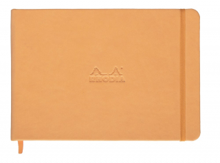 Image of Notebook Rhodia Webnotebook A5 Landscape Lined Orange