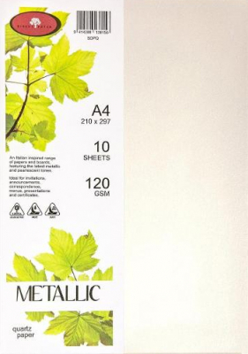 Image of Paper Metallic 120gsm A4 Quartz 10 Pack