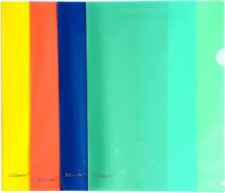Image of File L Shaped Pocket Esselte A4 Assorted 12 Pack